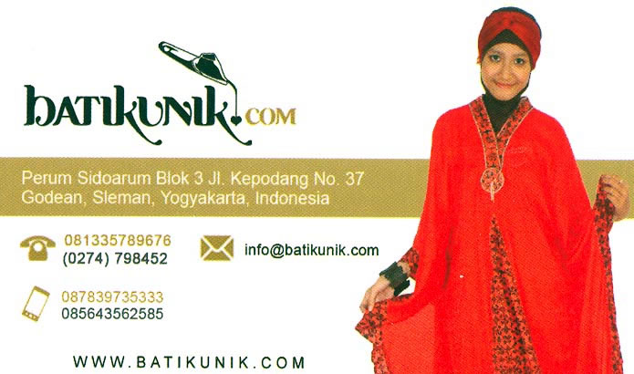 Batikunik business card
