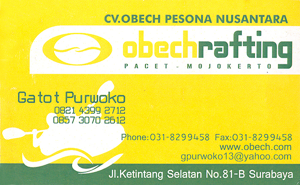 Obechrafting businesscard
