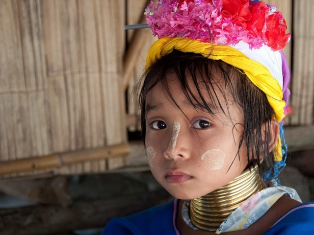 Traditional Kayan women symbolically culture (Burma Laos Thailand Tibetan)