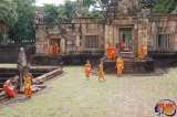 Historic Hindu temple and Buddhist Monks